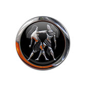 Button with the zodiacal sign Gemini — Stockfoto