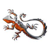 Illustration of a salamander in chrome — Stock Photo
