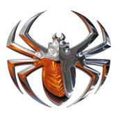 Illustration of a spider realized in chr — Stock Photo