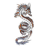 Illustration d'un dragon mythique — Photo