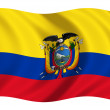 Bandera de Ecuador — Stock Photo