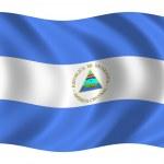 Bandera de Nicaragua — Stock Photo