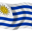 Bandera Uruguay — Stock Photo
