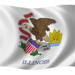 Flag of Illinois — Stok fotoğraf