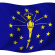 Flag of Indiana — Stock Photo