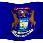 Flag of Michigan — Stock Photo