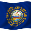 Flag of New Hampshire — Stock Photo