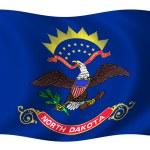 Flag of North Dakota — Stock Photo