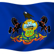 Flag of Pennsylvania — Stock Photo