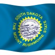 Stock Photo: Flag of South Dakota