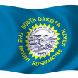flagge von south dakota — Lizenzfreies Foto