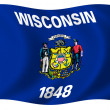 Flag of Wisconsin — Stock Photo #1643984