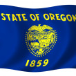 Flag of Oregon - Stock Photo