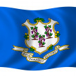 Flag of Connecticut - Stock Photo
