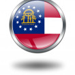 3D Georgia Flag button illustration on — Stock Photo