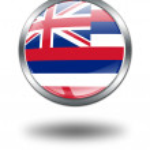 3D Hawaii Flag button illustration on a — Stock Photo #1644049