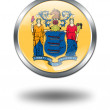 3D New Jersey Flag button illustration — Stock Photo #1644598