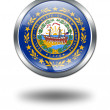 3D New Hampshire Flag button illustrati — Stock Photo