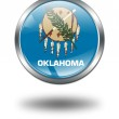 3D Oklahoma Flag button illustration on — Stock Photo #1644744