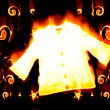 Jersey engulfed in flames on black backg — Stock Photo #1645547