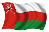 Bandera de Oman — Stock Photo