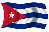 Bandera de Cuba — Stock Photo