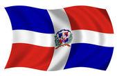 Bandera Republica Dominicana — Stock Photo