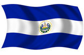 Bandera Republica de el Salvador — Stock Photo