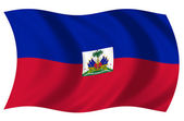 Bandera Haiti — Stock Photo