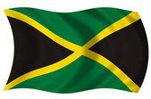 Bandera de Jamaica — Stock Photo