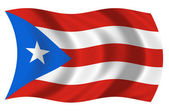 Bandera de puerto rico — Photo