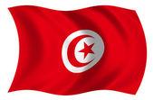 Bandera de Tunez — Stock Photo