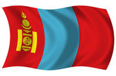 Bandera de Mongolia — Stock Photo