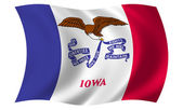 Flag of Iowa — Stock fotografie