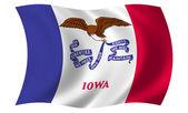 爱荷华州的旗子 — 图库照片