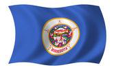 Flag of Minnesota — Stock Photo