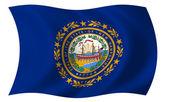 Флаг Нью-Хэмпшира — Стоковое фото