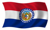 Flag of Missouri — Stock Photo