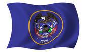 Flag of Utah — Stock Photo