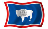 Flag of Wyoming — Stock Photo
