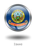 3D Idaho Flag button illustration on a — Stock Photo