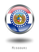 3D Missouri Flag button illustration on — Stock Photo