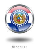 3D Missouri Flag button illustration on — Stock Photo