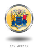 3D New Jersey Flag button illustration — Stock Photo