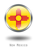 3D New Mexico Flag button illustration — Stock Photo