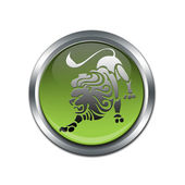 Button with the zodiacal sign Leo — Stock Photo