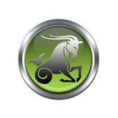 Button with the zodiacal sign Capricorn — Stock Photo