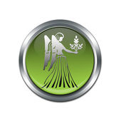 Button with the zodiacal sign Virgo — Stock Photo