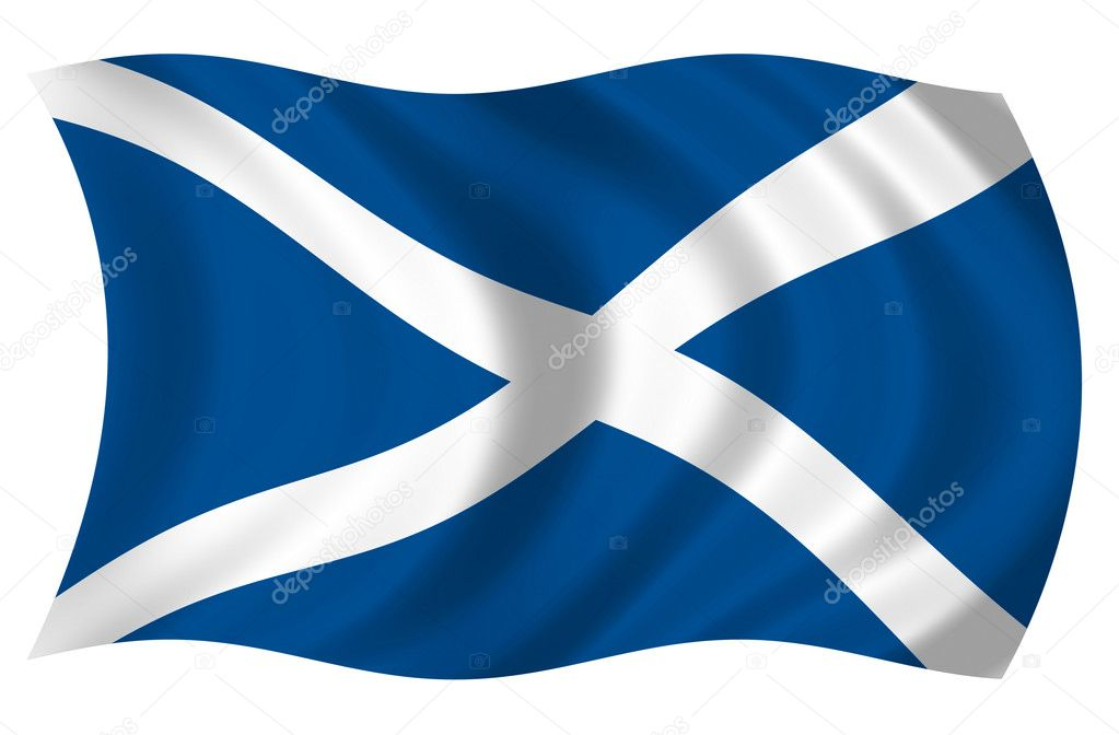 Flag of Scotland  Stock Photo #1642143