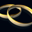 Two golden wedding rings — Stock Photo #2114713